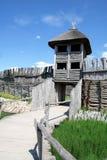 Biskupin - gateway aan het dorp Royalty-vrije Stock Afbeeldingen