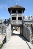 Biskupin - gateway to the village Stock Photo