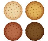 Biskwitowa ciastko krakersa kolekcja Fotografia Royalty Free