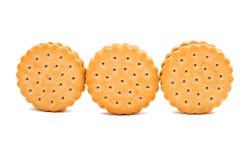 Biskwitowa round kanapka odizolowywająca Obrazy Royalty Free