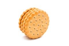 Biskwitowa round kanapka odizolowywająca Zdjęcie Stock