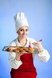 biskwitowego szef kuchni świeża oferta Zdjęcie Royalty Free