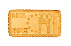 biskwitowej euro formy odosobniony biel Obrazy Royalty Free