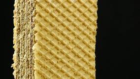 Biskwitowi gofrów ciastka zdjęcie wideo