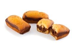 Biskwitowi i czekoladowi fruitcakes Obrazy Stock