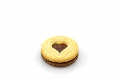 Biskwitowy ciastka serce kształtujący Obrazy Stock