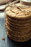 Biskwitowy słodki ciastka tło Domowy brogujący masła ciastko Obraz Royalty Free