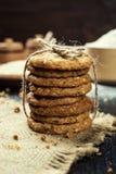 Biskwitowy słodki ciastka tło Domowy brogujący masła ciastko Zdjęcia Stock
