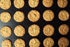 Biskwitowy słodki ciastka tło Domowy brogujący masła ciastko Obrazy Stock