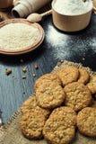 Biskwitowy słodki ciastka tło Domowy brogujący masła ciastko Zdjęcie Stock