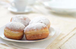 Bismarck donuts Royalty Free Stock Images