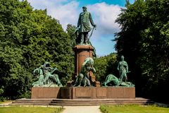 Bismarck Memorial in Berlin Royalty Free Stock Images