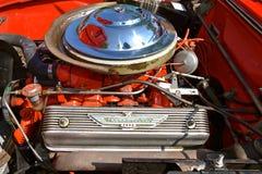 1955 Ford Thunderbird car engine Royalty Free Stock Photo