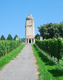 Bismarck Tower in the middle of vineyard. Royalty Free Stock Images