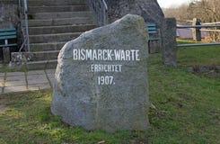 Bismarckwarte (Bismarck observation point) in Lindenfels Stock Photos