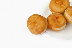 Bismark doughnuts on white background Stock Photography