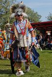 Dancer of the 49th annual United Tribes Pow Wow. BISMARK, NORTH DAKOTA, September 8, 2018 : A dancer of the 49th annual United Tribes Pow Wow, one large outdoor royalty free stock images