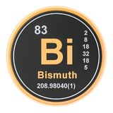 Bismuth Bi chemical element. 3D rendering. Isolated on white background stock illustration