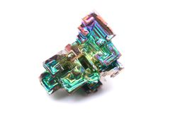 Bismuth (bismuthium) metal Stock Photography