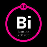 Bismuth chemical element Royalty Free Stock Images