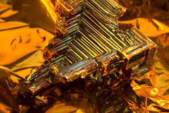 Bismuth crystal Stock Photo