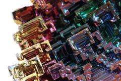 Bismuth - métal d'arc-en-ciel Images stock