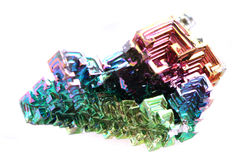 Bismuth - métal d'arc-en-ciel Photos libres de droits