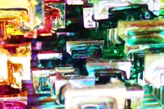 Bismuth metal mineral texture. As very nice background Stock Images