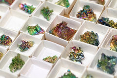 Bismuth mineral collection Stock Photo