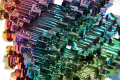 Bismuth - rainbow metal background Stock Photos