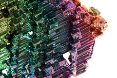 Bismuth - rainbow metal background Royalty Free Stock Photos