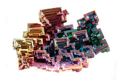 Bismuth - rainbow metal Stock Photo