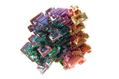 Bismuth - rainbow metal mineral Stock Photo