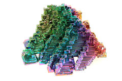Bismuth - rainbow metal mineral Royalty Free Stock Image