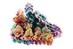 Bismuth - rainbow metal mineral Royalty Free Stock Images