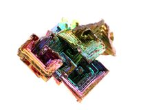 Bismuth (rainbow metal quartz) Stock Images