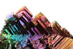 Bismuth (rainbow metal quartz) Royalty Free Stock Photography