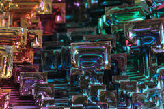 Bismuth - rainbow metal texture Royalty Free Stock Photos