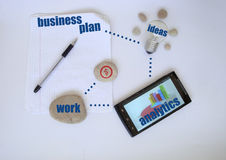 Bisness plan. Ready for work.Ideas Stock Photography