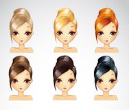 Bisness Smooth Hairstyle Set Stock Photo