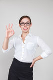 Bisnesswoman getsuring good Stock Image