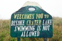 Bisoke crater lake royalty free stock image