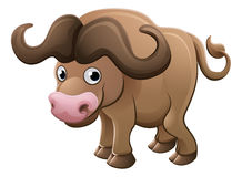 Bison Buffalo Animal Cartoon Character Arkivfoton