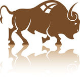 Bison Buffalo vector Royalty Free Stock Images