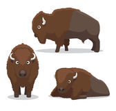 Bison Cartoon Vector Illustration sveglio Royalty Illustrazione gratis