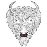 Bison head doodle Stock Images