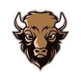 Bison Head Mascot Vector. For School, Sport logo, e-sport logo, etc stock illustration