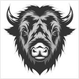 Bison Mascot Head Rebecca 36 Royalty Illustrazione gratis