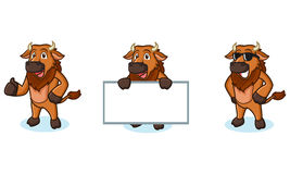 Bison Mascot Vector felice Illustrazione di Stock