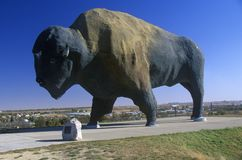 Bison statue, National Buffalo Museum, Jamestown, ND Stock Photo